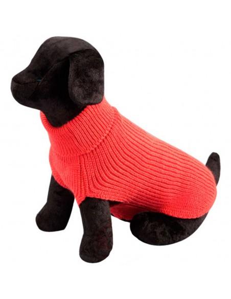 Jersey de punto para perro color coral