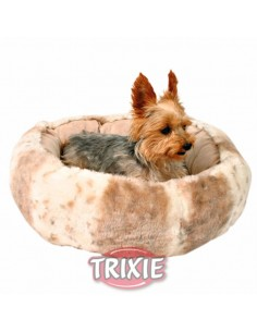 Cuna para perro redonda modelo Leika en color beige