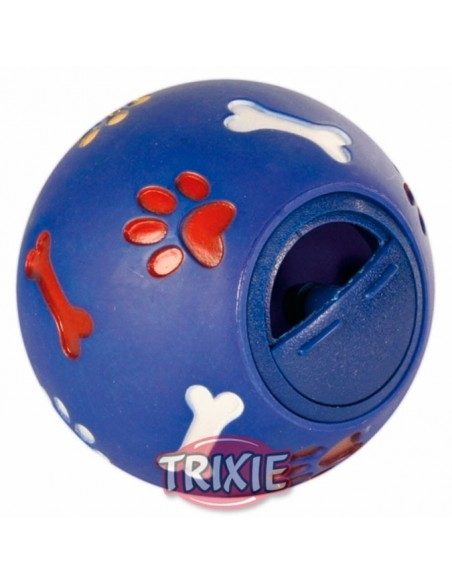 Juguete para perro, pelota redonda con orificio para premios
