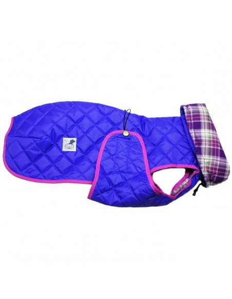 Ropa para perro -  abrigo Impermeable Acolchado Galgo color morado