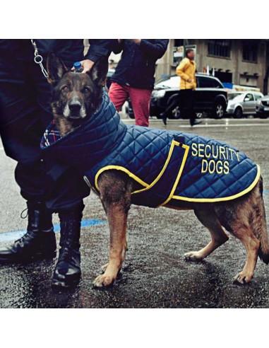 Uniforme impermeable forrado para perros de seguridad