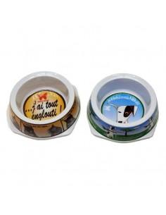 Comedero para perros conjunto de 2 platos de melamina 0,50 Lts