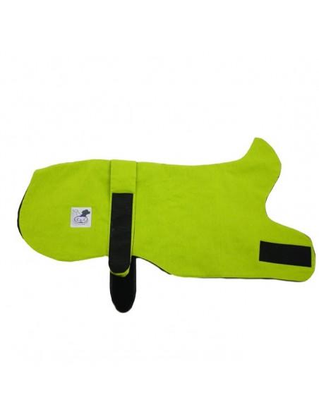Abrigo para galgo reversible verde