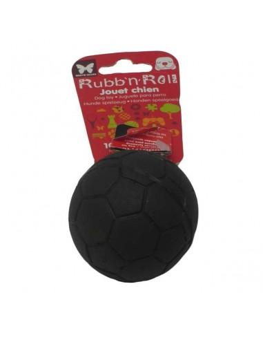 Juguetes para perros pelota maciza futbol caucho natural negra