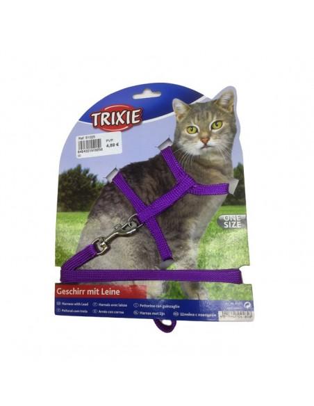 Arnes y correa para gato colores