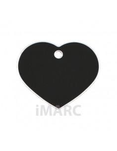 Placa identificativa para perro, corazón pequeño en colores