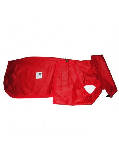 Impermeable para whippet color rojo