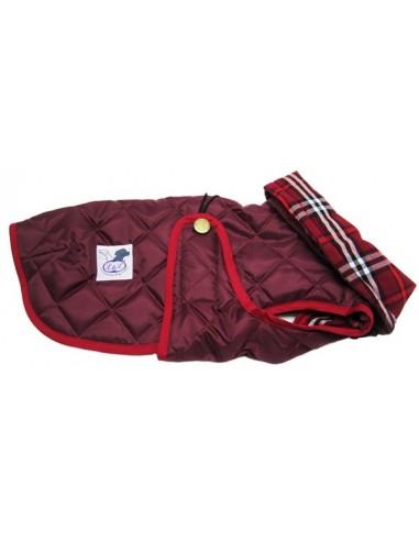 abrigo para perro impermeable granate