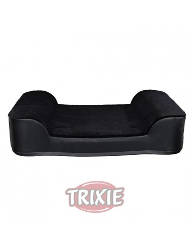 Cama sofá para perro en ecopiel negra