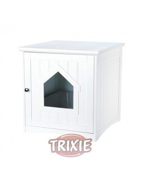 Mueble para cubrir la bandeja de arena de gatos