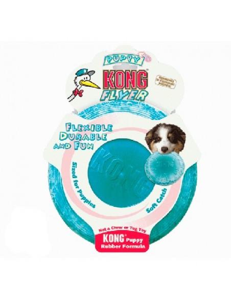 Juguetes para perros Kong Flyer puppy azul
