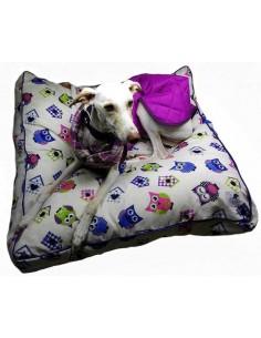 cama especial para galgo gris buhos