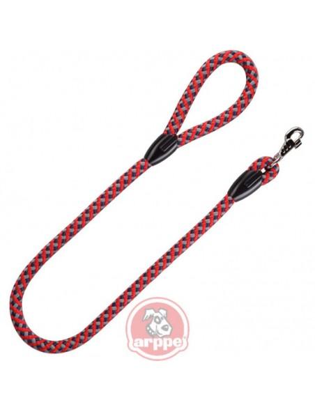 corea para perro cuerda roja gris