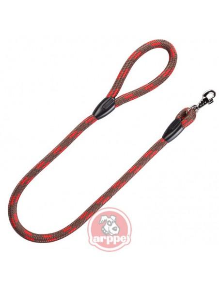 corea para perro cuerda rojo marron