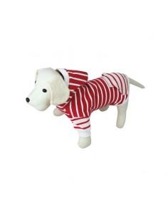 Sudadera para perro modelo Nautic en blanco y rojo