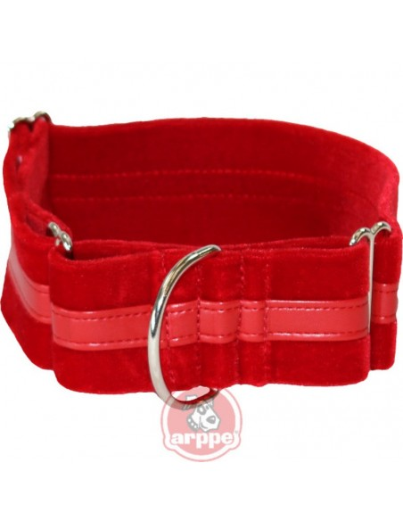 Collar para galgo en terciopelo martingale regulable