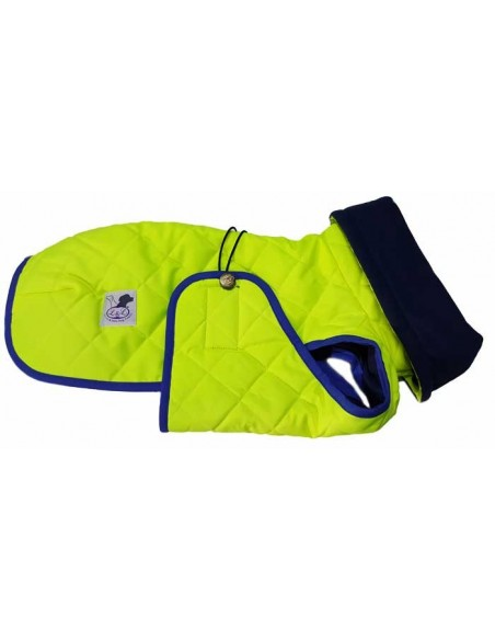 Abrigo impermeable acolchado para galgo alta visibilidad