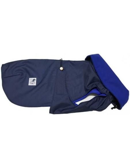 Abrigo impermeable azul marino con forro polar técnico para perro