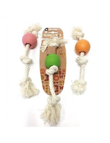 juguete perro pelota cuerda