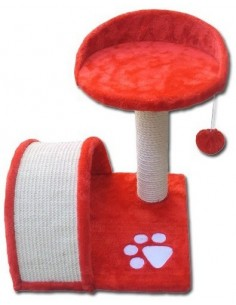 rascador rojo para gato
