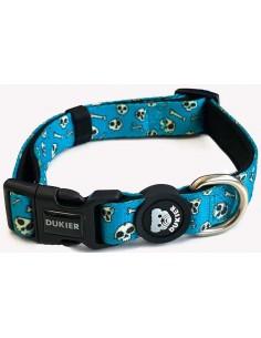 collar perro dukier skulls