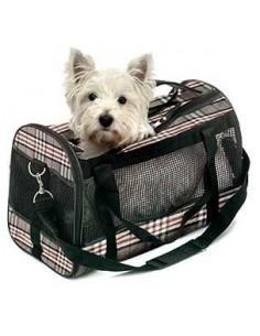 Bolso para transporte de perros en tela Burberry