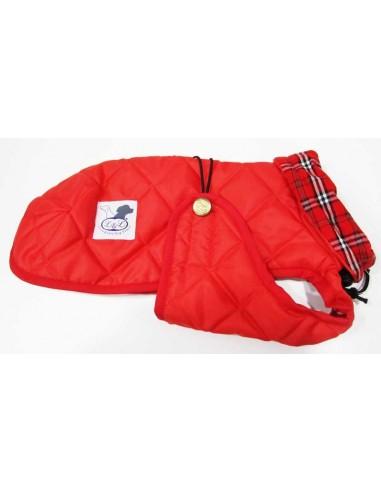 Abrigo Impermeable Acolchado para Piccolo rojo