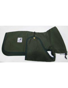 Ropa para perro - Impermeable Galgo color verde oliva