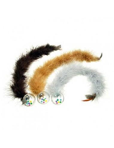 Juguete para gato pelota con plumas
