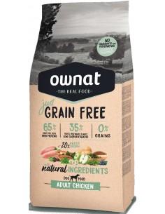 Pienso para perros adultos OWNAT Just Grain Free pollo