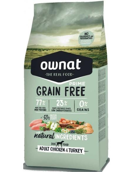 Pienso para perros adultos OWNAT Prime Grain Free pollo