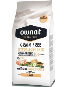 pienso ownat grain free hypoalergenico cordero
