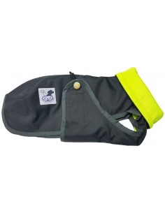 Abrigo Impermeable para Piccolo gris con forro polar verde flúor
