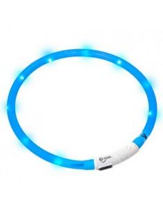 Collares para perros luminoso color azul con cargador USB