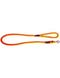 correa perro cuerda fluorescente naranja