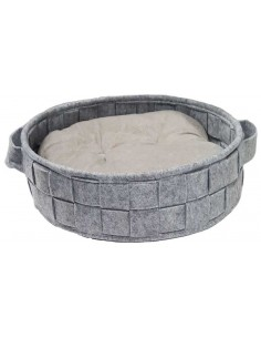 Cuna para perro o gato modelo Atelier gris