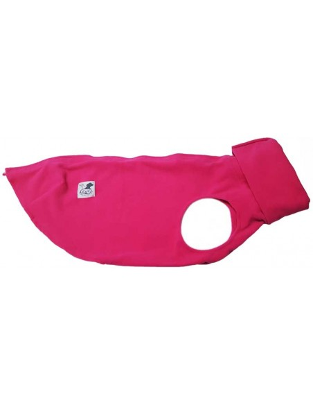 Forro polar para perro color rosa