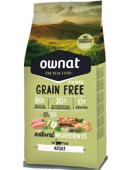 Pienso para gatos OWNAT Grain Free adultos
