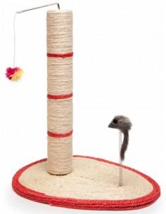 Rascador para gatos modelo poste sisal con borlón