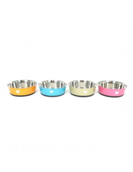 Comedero para perros de plato color INOX