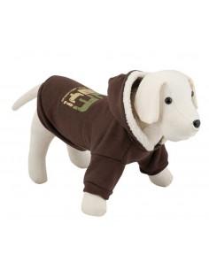 Sudadera para perro suave color marrón