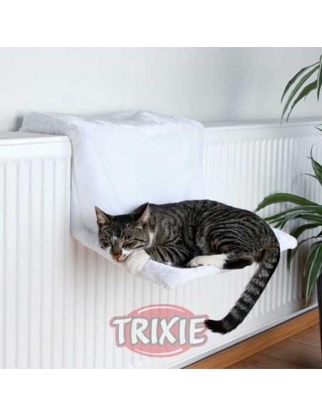 Cama para gato de radiador, en peluche