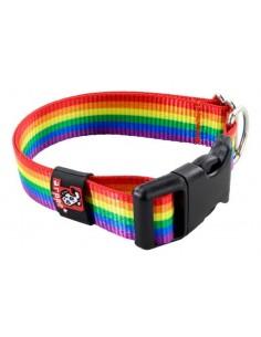 Collar para perro de nylon bandera arco iris