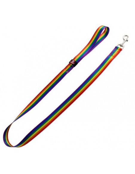 Correa para perro nylon arco iris