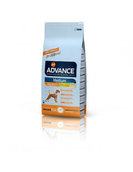 Comida para perros pienso advance medium adult chicken & rice