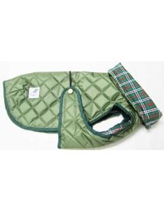 abrigo impermeable verde para perro